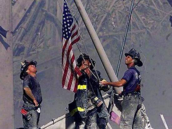 Izando bandera usa 11-9