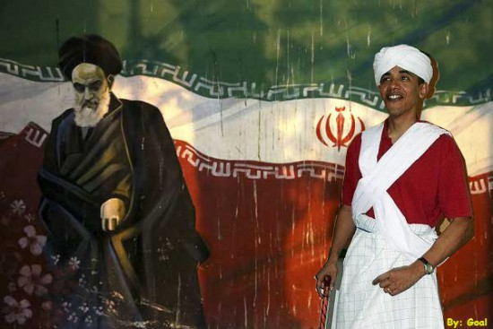 Jomeini Obama bandera Iran nuke