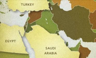Mapa Arabia Saudí vanguardia-suni