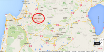 MAPA ISRAEL NORTE SHEFARAM