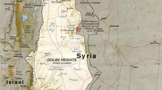 MAPA SIRIA-ALTOSDELGOLAN-ISRAEL