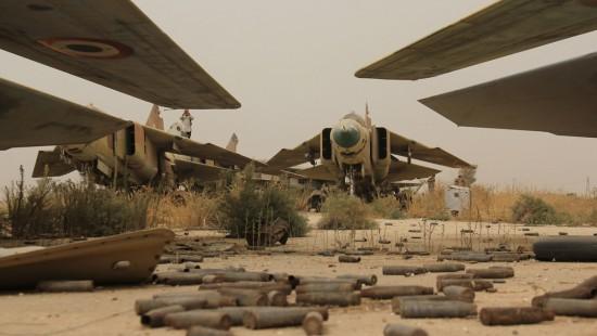 MIG-23 rusos de Abu Duhür Siria