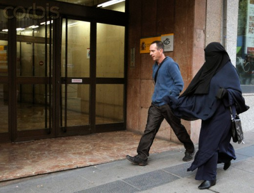 Fatima Hssisni arrives to testifie at Spain's High Court