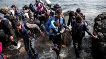 Refugiados sirios en las costas de Europa
