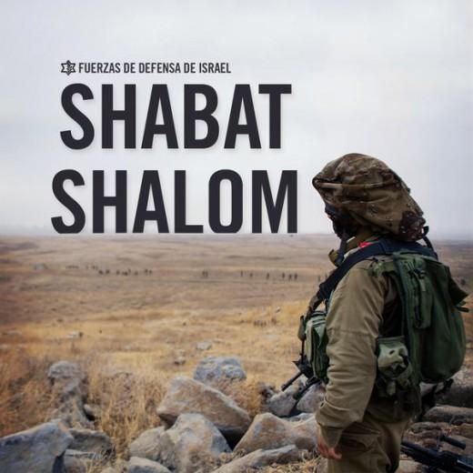 Shabat Shalom IDF Soldado