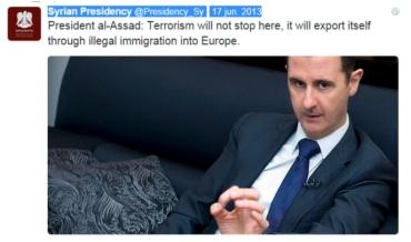 TWIT-PRESIDENTE Al-Assad-LIBIA