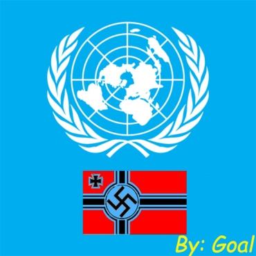 UNRWA-ONU con bandera nazi