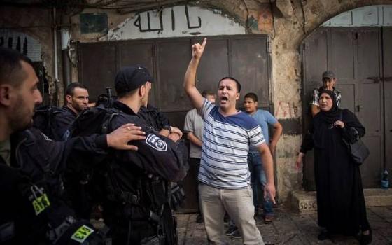 Violencia árabe en el Monte del Templo