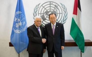 Ban Ki-moon y Abbas