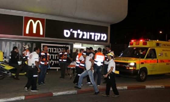 Escenario del ataque terrorista en Beer Sheva