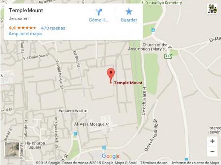 Google Maps muerte a los judios Monte del Templo