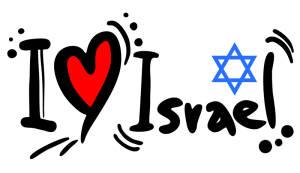 I love Israel con estrella