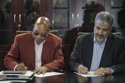 Khaled Mashaal-Jacob Zuma-22-10-15