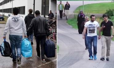 Moros solicitantes de asilo en Kalmar Suecia
