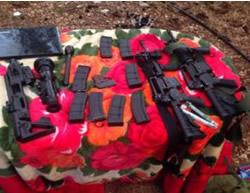 Armas requisadas a terroristas árabes en Jenin