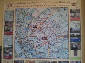 Mapa del distrito judío Budapest