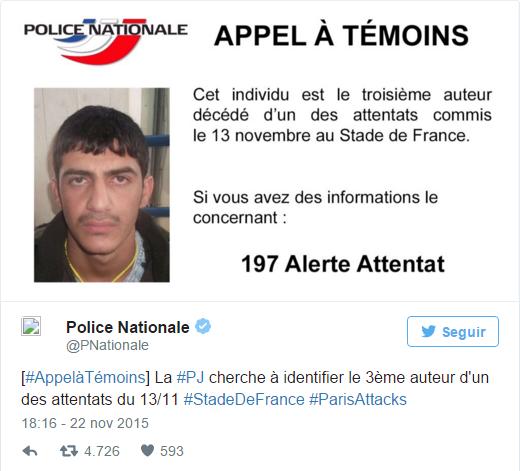 Mohammad al-Mahmod, tercer suicida del Estadio de Francia