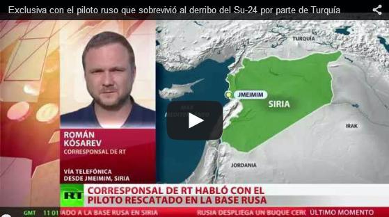 Piloto ruso derribado en Siria