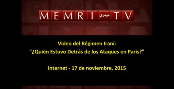 Video irani acusando a occidente de atentados en París