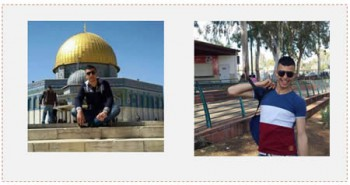 A la derecha: El terrorista en una visita al parque nacional de Ramat Gan. A la izquierda: El terrorista durante una visita al Monte del Templo (página facebook PALDF, 7 de diciembre de 2015)