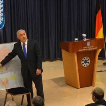 Bibi-charla-jóvenes-alemanes-visita-Israel