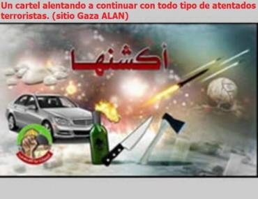 CARTEL PALESTINO ALENTANDO A COMETER MAS ATENTADOS TERRORISTAS