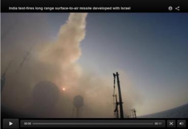 India-Israel prueba de misiles