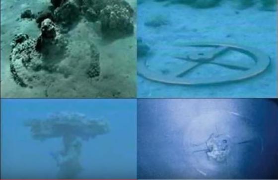 Carros de guerra egupcios en el fondo del mar rojo Moshe...