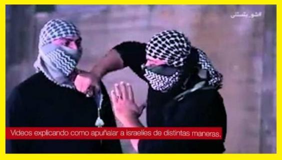 La incitación palestina. IDF Vídeo.