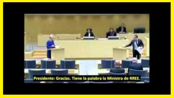 Ministra sueca acusada en su parlamento de apoyar el terrorismo