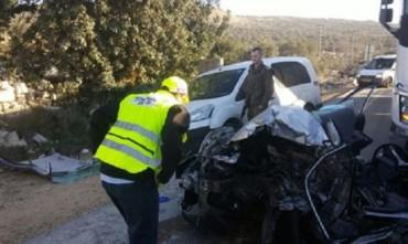 Muerte de un israel en colision con árabe