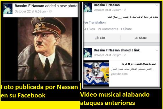 Nassan publico estas fotos en su FB ante de cometer un ataque terrorista