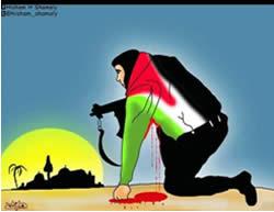 Terrorista palestino dibujo