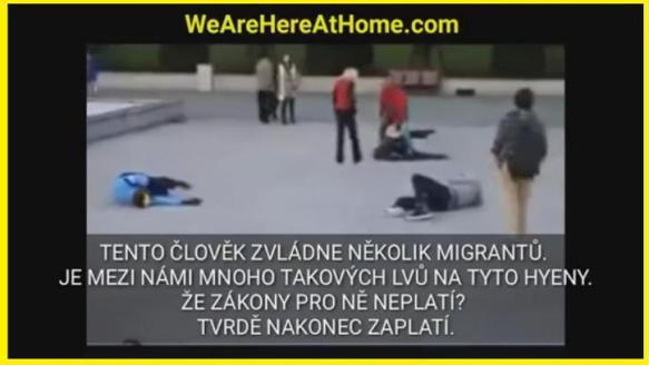 Moros refugiados agreden sexualmente a la esposa de un europeo y los zurra a los 4