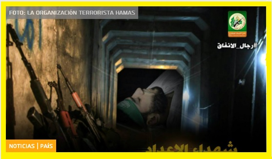 Terroristas de Hamas muertos cavando túneles del terror