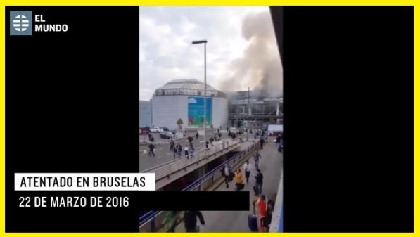 Videos del atentado de Bruselas.