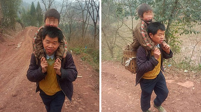 1_devoted-father-carries-son-18-miles-to-school-1