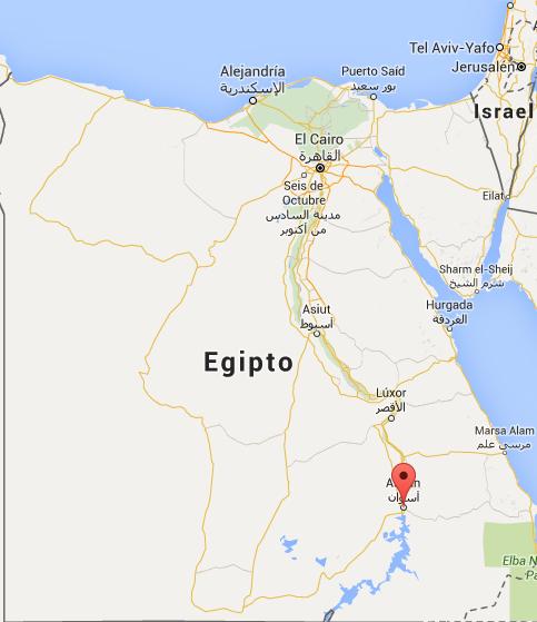Elefantina Egipto mapa