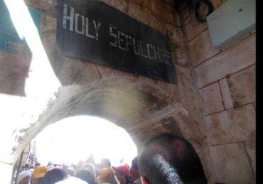 Holy Sepulcro cristianos en Judea Samaria