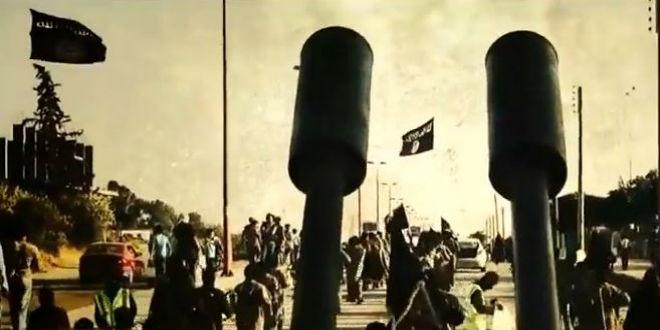 ISIS-flag-parade