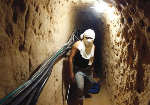 Túnel palestrucho en Gaza