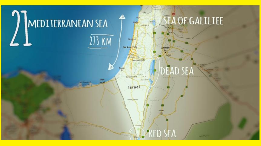 ISRAEL MAPA ACTUAL
