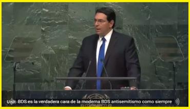 Danon Emb. de Israel en la ONU discurso contra BDS
